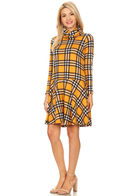 yellow - black plaid