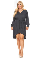 Load image into Gallery viewer, Try it Tied Puff Dress Plus Size