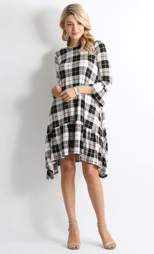 black ivory plaid