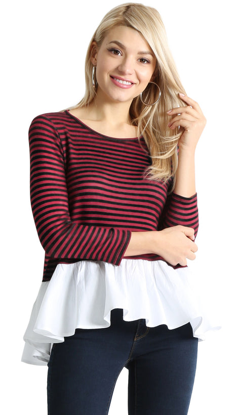 Share the Stripes Ruffle Top