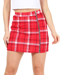 Load image into Gallery viewer, red/navy/ivory plaid