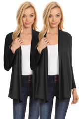 Load image into Gallery viewer, Womens Open Drape Cardigan Reg and Plus Size Cardigan Sweater Long Sleeves - USA
