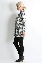 Load image into Gallery viewer, ivory - black plaid