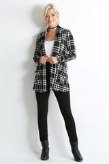 Load image into Gallery viewer, black - ivory plaid