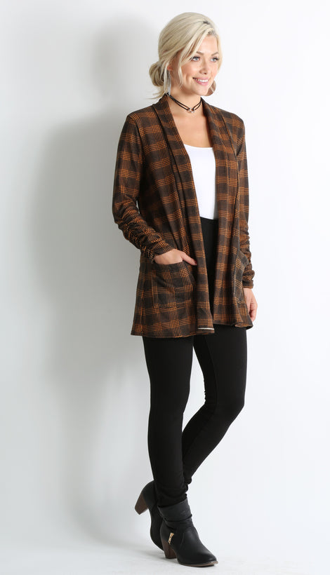 gold - black plaid