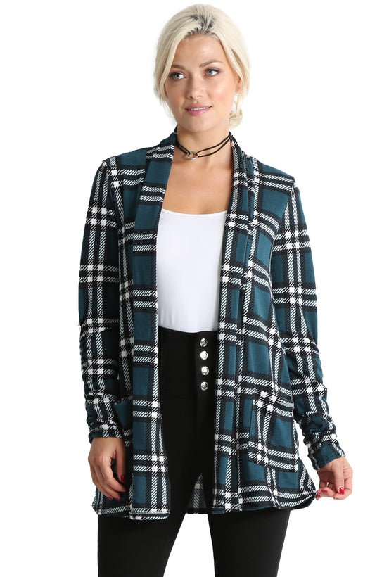 teal - ivory plaid