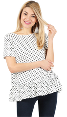 Load image into Gallery viewer, polka dot white/black /short sleeve