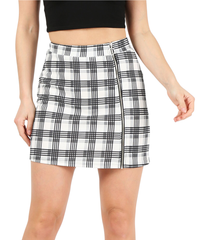 Load image into Gallery viewer, ivory/grey/black plaid