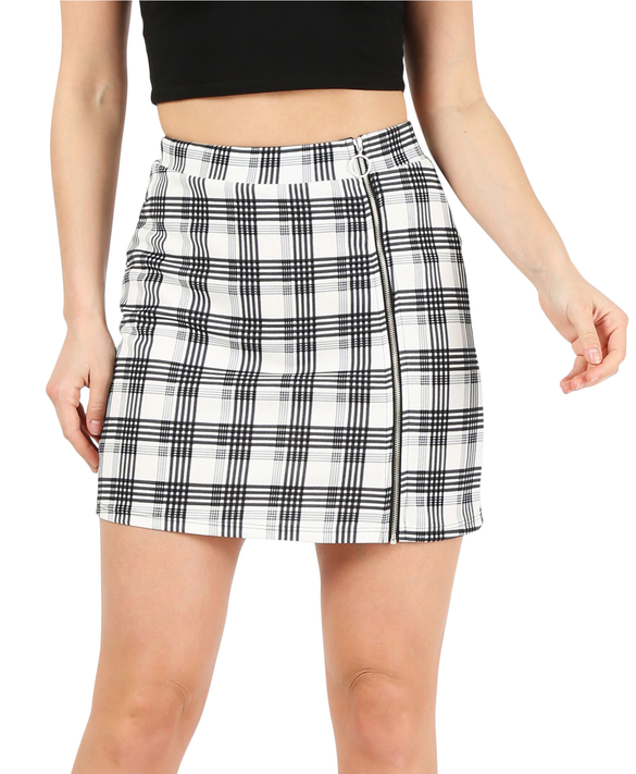 ivory/grey/black plaid