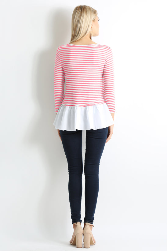 coral ivory stripe