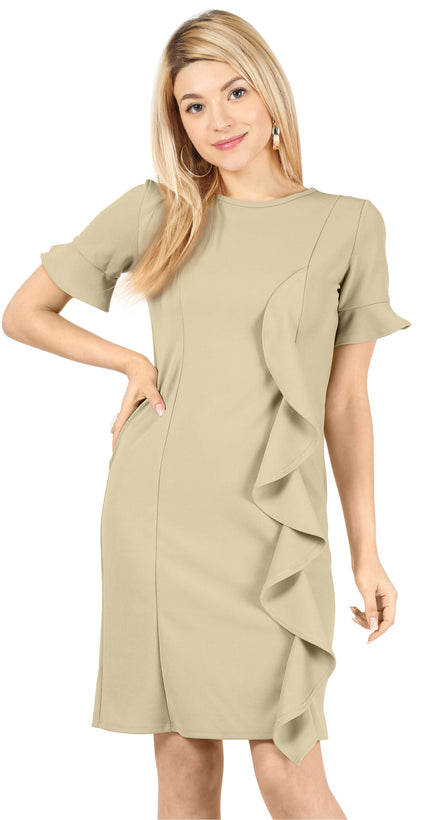 Rejoice with Ruffles Sheath Dress