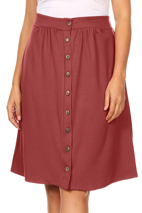 Button It Up Reg and Plus Size Skirt