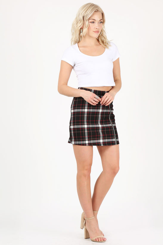 black/red/ivory plaid