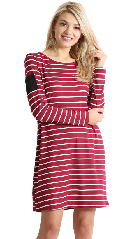 burgundy ivory stripe