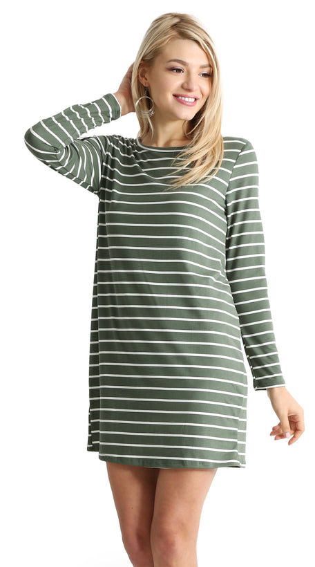 green ivory stripe