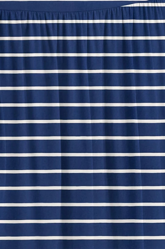 navy stripe ankle-length
