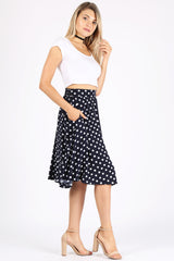 Load image into Gallery viewer, navy/white polka dot print