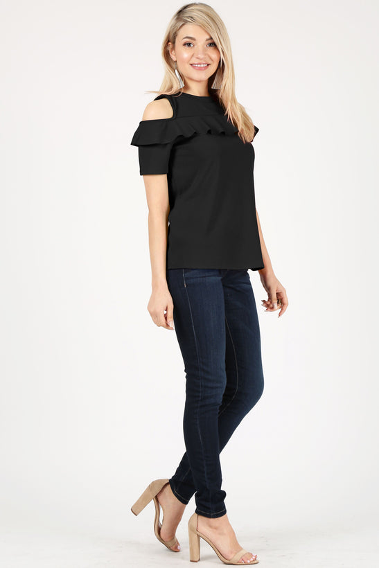 black/short sleeve