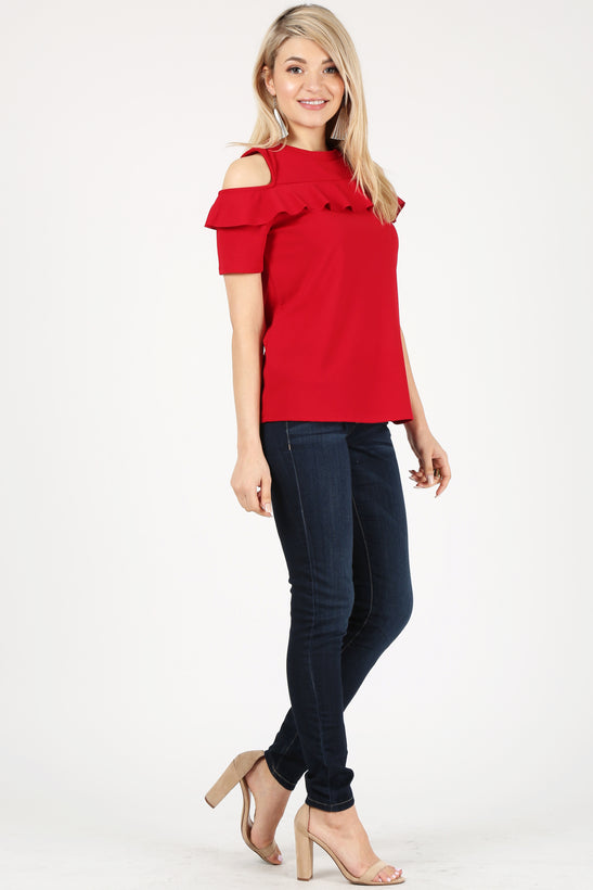 red/short sleeve