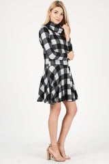 Load image into Gallery viewer, black - heather grey checkered