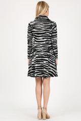 Load image into Gallery viewer, black - heather grey zebra
