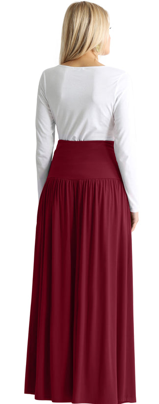 burgundy floor length