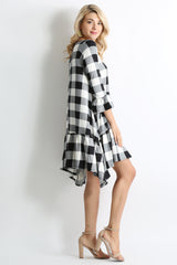 Load image into Gallery viewer, black plaid