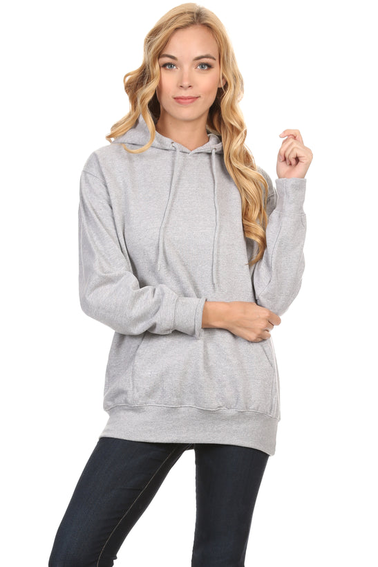 Simlu Plus Size Fleece Pullover Hoodies Oversized Sweater Sweatshirts