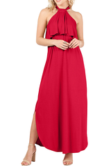 Load image into Gallery viewer, Heed the Halter Maxi Dress