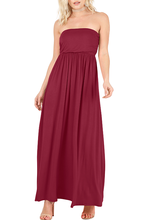 Nothing to Hide Strapless Maxi