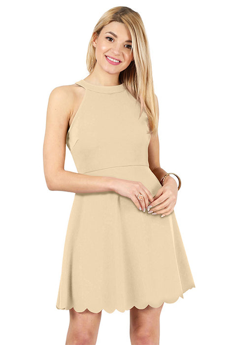 Live for Scallops Halter Dress