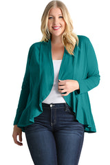 Load image into Gallery viewer, Classy In Ruffles Plus Size Cardigan