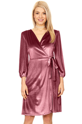 Say it with Warmth Wrap Dress