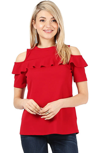 Flash the Shoulders Frill Top
