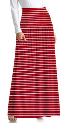 Load image into Gallery viewer, burgundy stripe ankle-length