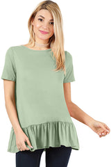 Load image into Gallery viewer, Play With Peplum Tunic Top Short Sleeve