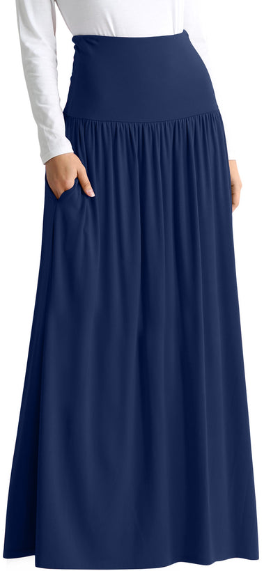 navy floor length
