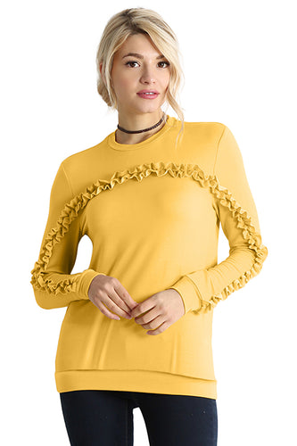 Cascade in Comfort Ruffle Pullover