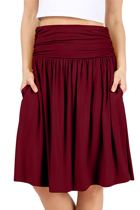 Comfort In Casual Plus Size Stretch Skirt