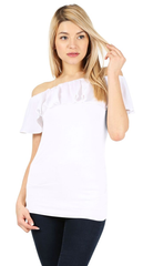 Load image into Gallery viewer, white/cotton white ruffle
