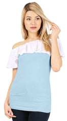 Load image into Gallery viewer, baby blue/cotton white ruffle