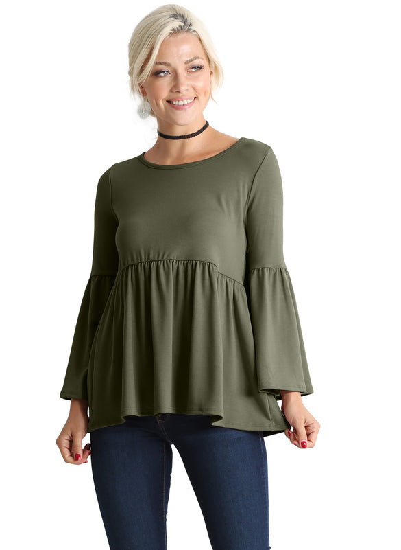 Pine For Peplum Babydoll Top