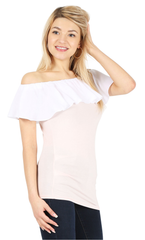 Load image into Gallery viewer, blush/cotton white ruffle
