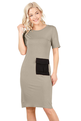 Be Bold Contrast Dress