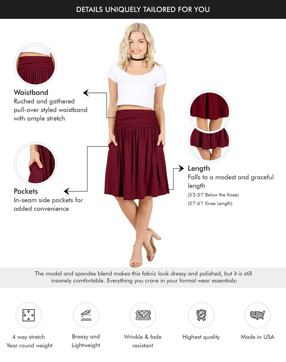 Comfort In Casual Stretch Skirt