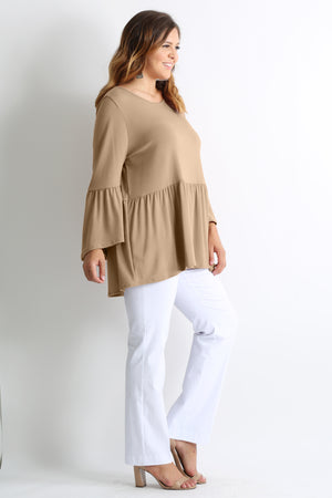 RUFFLE IT UP PLUS SIZE TOP