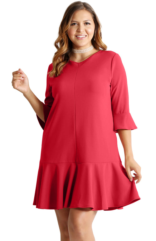 A CLASSIC WITH FLAIR PLUS SIZE DRESS