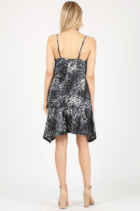 grey/charcoal print-sleeveless