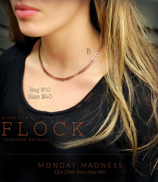 Monday Madness: Flock Necklace, Copper