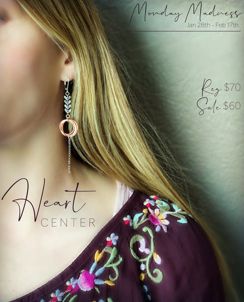 Monday Madness: Heart Center Earrings
